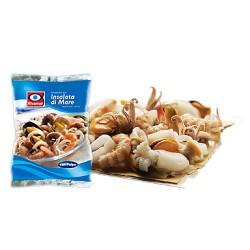 Fantasia frutti di mare con polpo