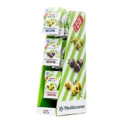 Espositore 3 olive miste snocciolate
